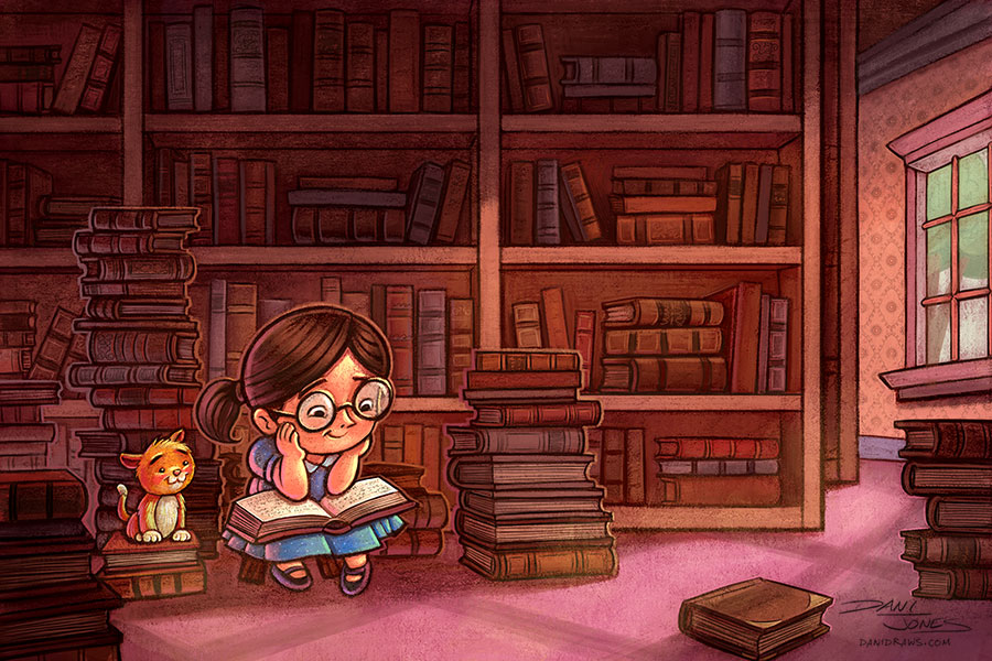 Library by Dani Jones http://danidraws.com