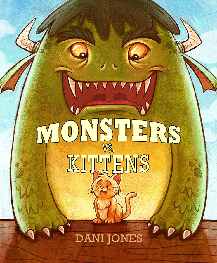 Monsters Vs. Kittens by Dani Jones http://danidraws.com