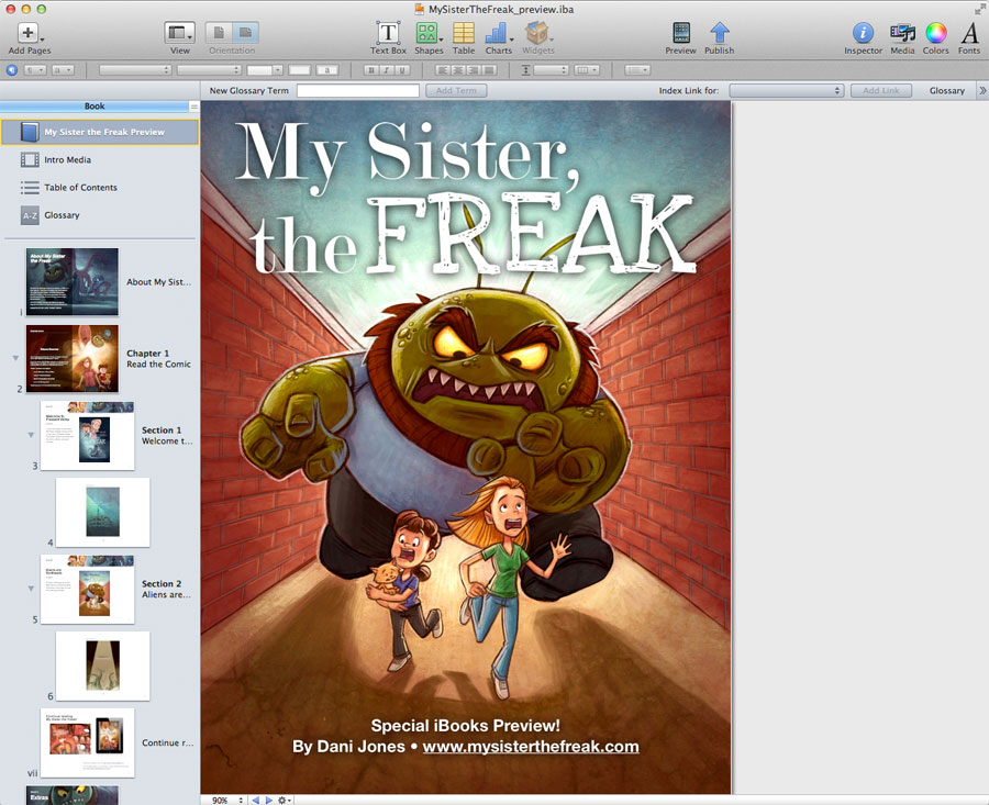 iBooks Author: First Impressions and Making a Comic | Dani Jones