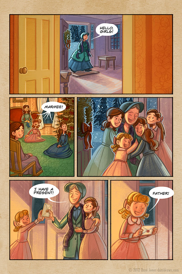 Little Women: A Merry Christmas by Dani Jones danidraws.com