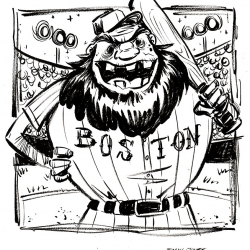 Monsters Ink - BoSox Beardy by Dani Jones http://danidraws.com