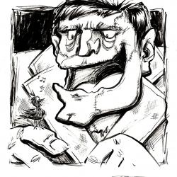 Monsters Ink - Frankenstein by Dani Jones http://danidraws.com