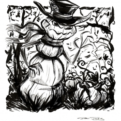 Monsters Ink - Gourdman by Dani Jones http://danidraws.com
