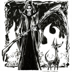 Monsters Ink - Grim Reaper by Dani Jones http://danidraws.com