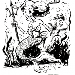 Monsters Ink - Mermaid by Dani Jones http://danidraws.com