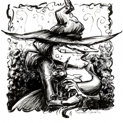 Monsters Ink - Witch by Dani Jones http://danidraws.com