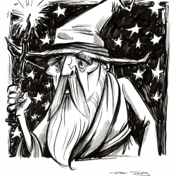 Monsters Ink - Wizard by Dani Jones http://danidraws.com