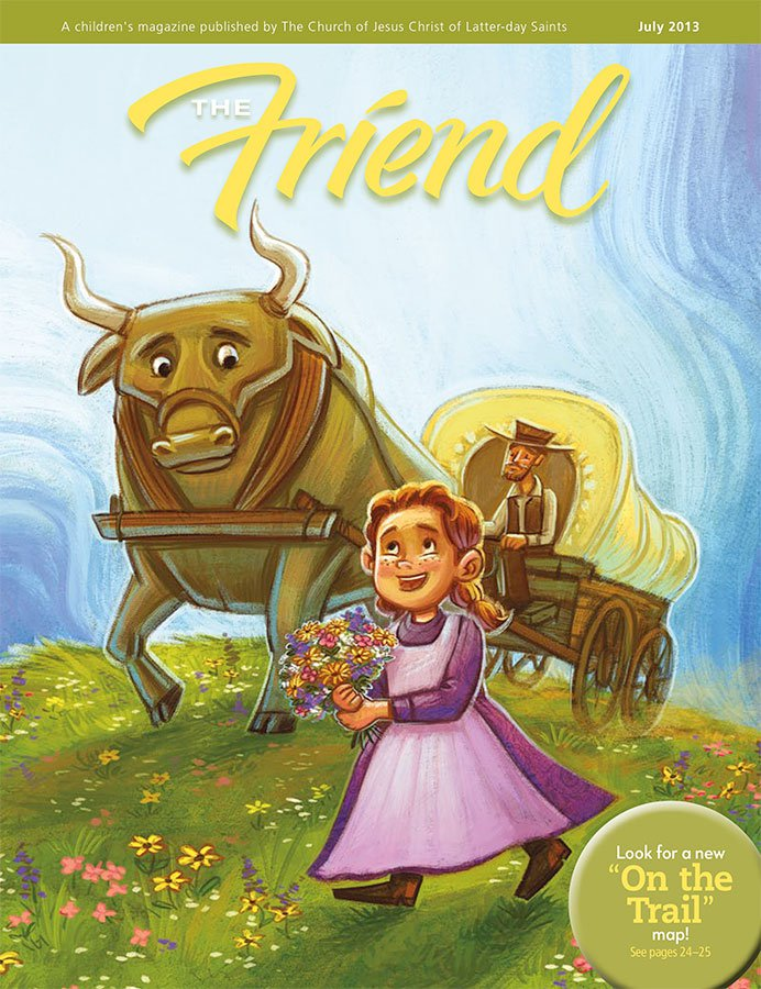 Friend Magazine July 2013 cover by Dani Jones http://danidraws.com