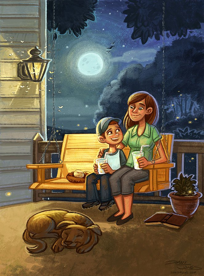 Front Porch Summer by Dani Jones http://danidraws.com