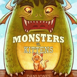 Monsters Vs. Kittens cover by Dani Jones http://danidraws.com
