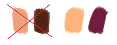 Light and Dark Skin Palette