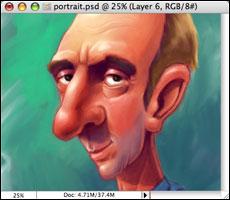 Portrait with color adjustments