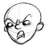50 farklı yüz ifadesi çizimi