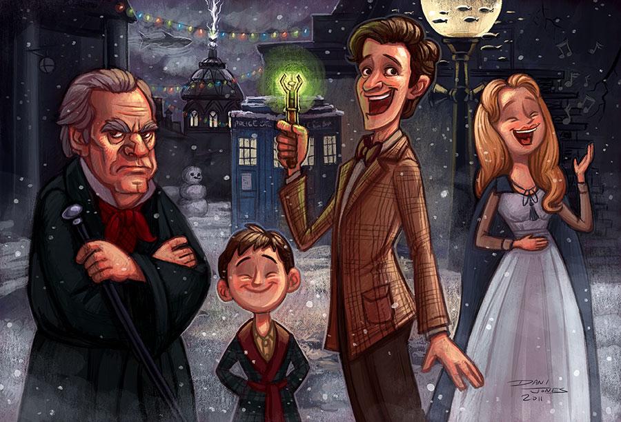 Doctor Who Christmas Carol Fan Art   Dani Jones