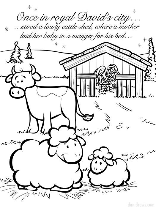 Christmas Coloring Book Dani Jones