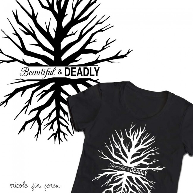 Beautiful & Deadly Star Trek shirt by Nicole Jones nicolejinjones.com