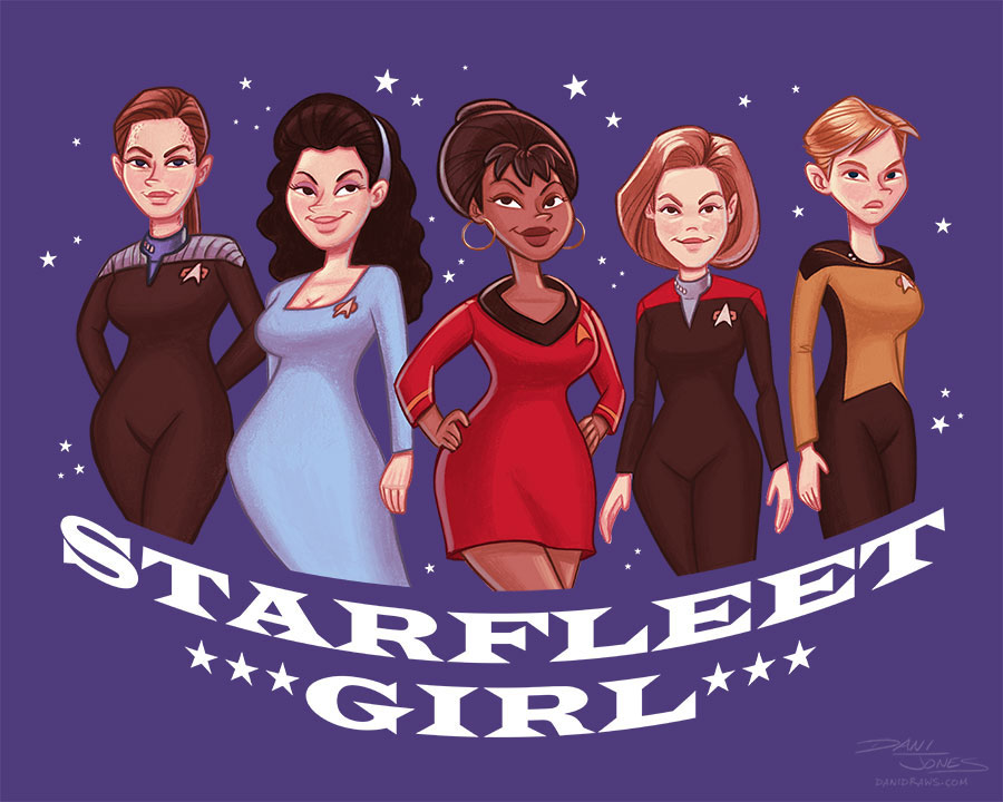 STARFLEET GIRL Star Trek shirt design by Dani Jones danidraws.com