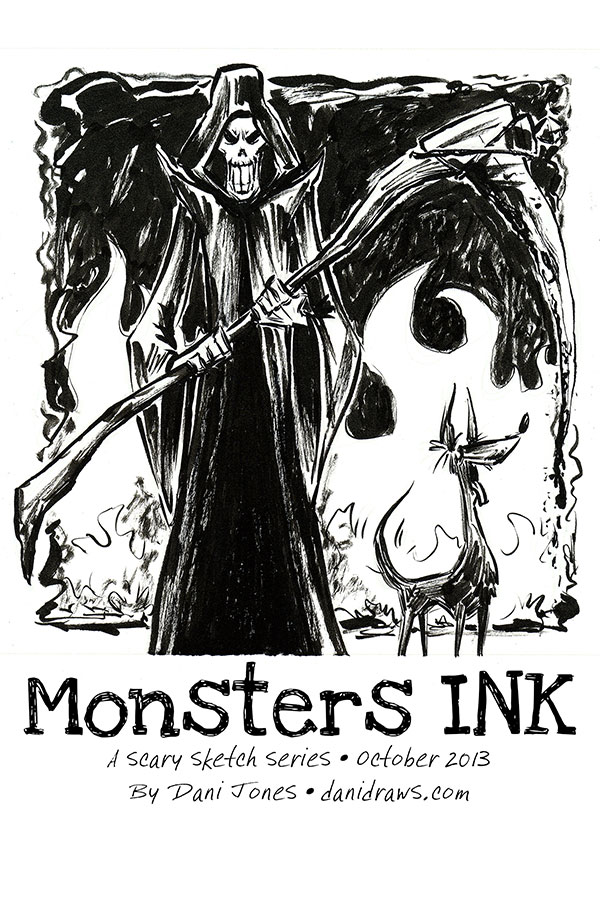 Monsters INK by Dani Jones http://danidraws.com