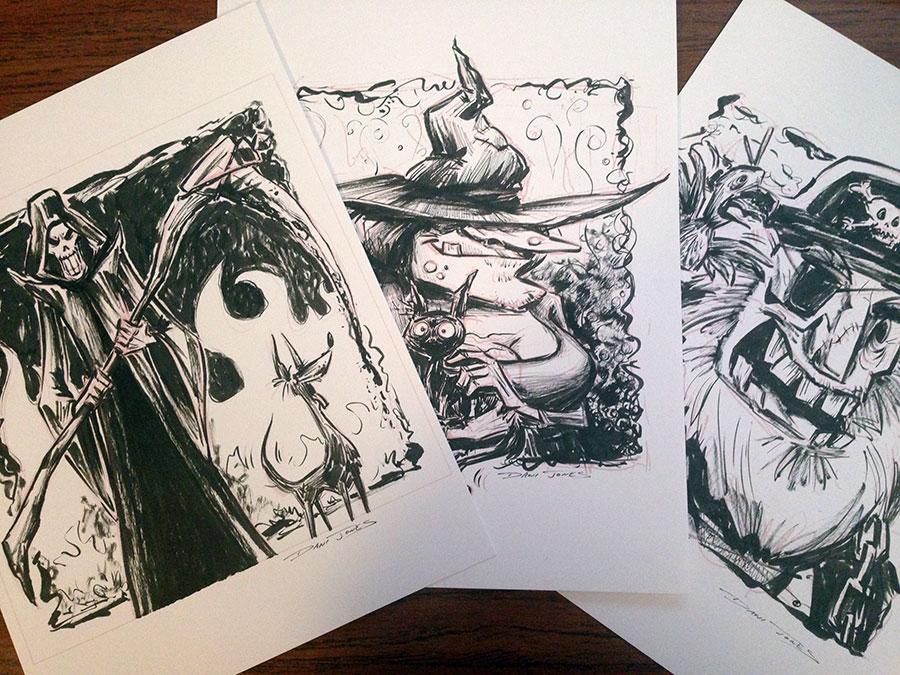 Monsters INK by Dani Jones http://danidraws.com